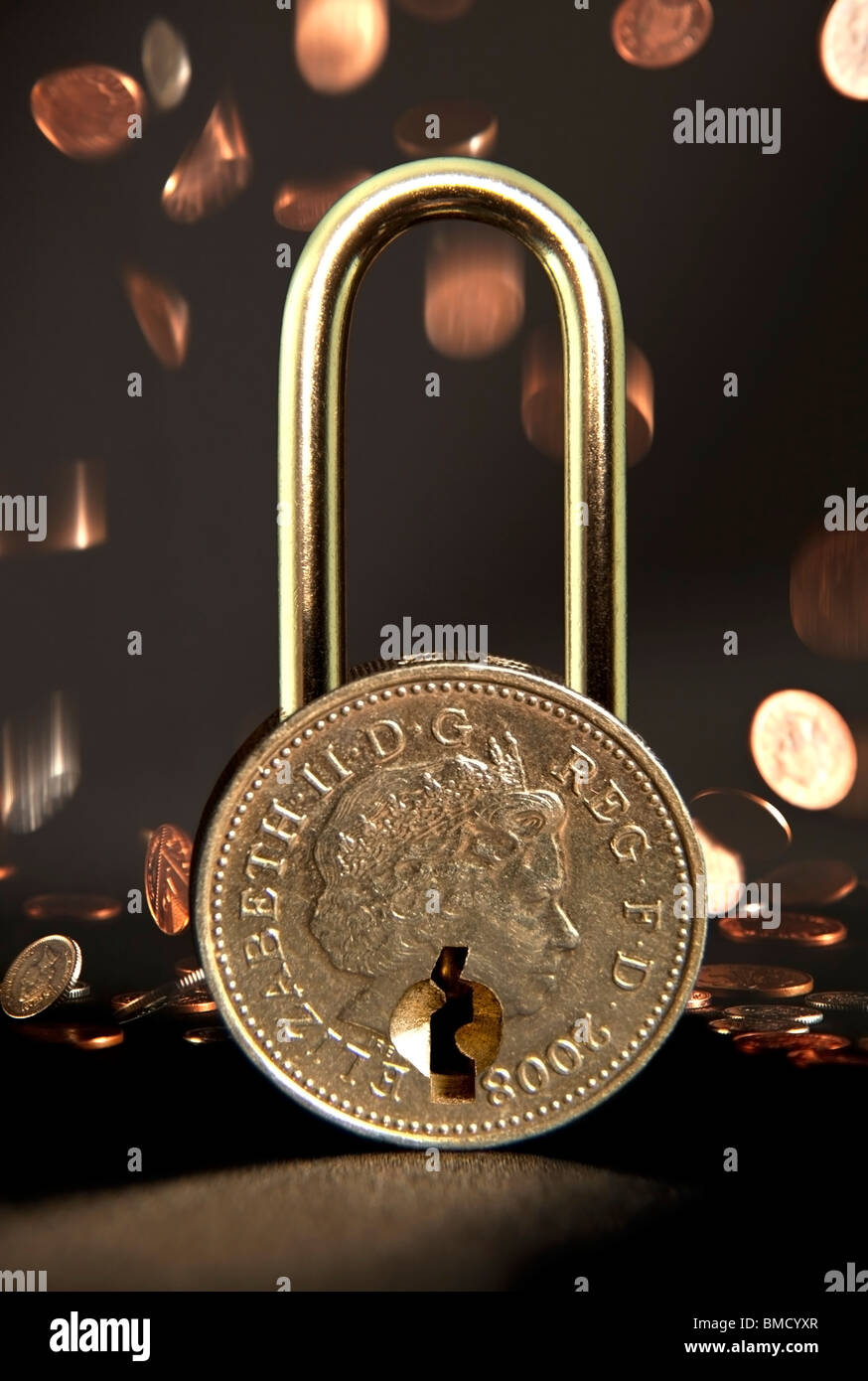 Find the answer to unlocking your money worries; solutions into your finances - Stock Image