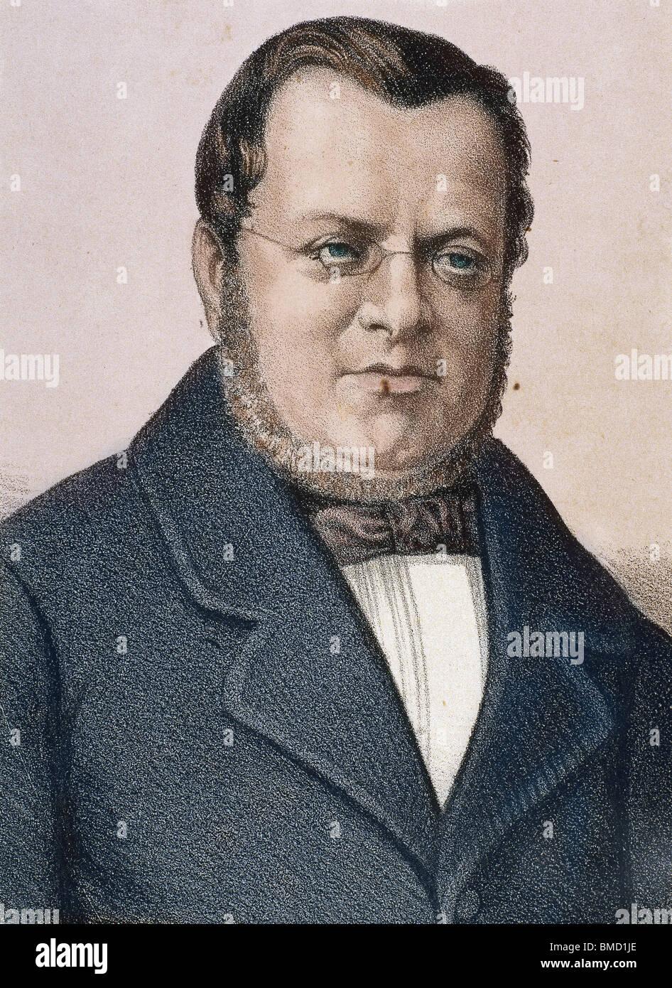 Cavour, Camillo Benso, Count of (Turin ,1810-1861) Italian statesman. - Stock Image