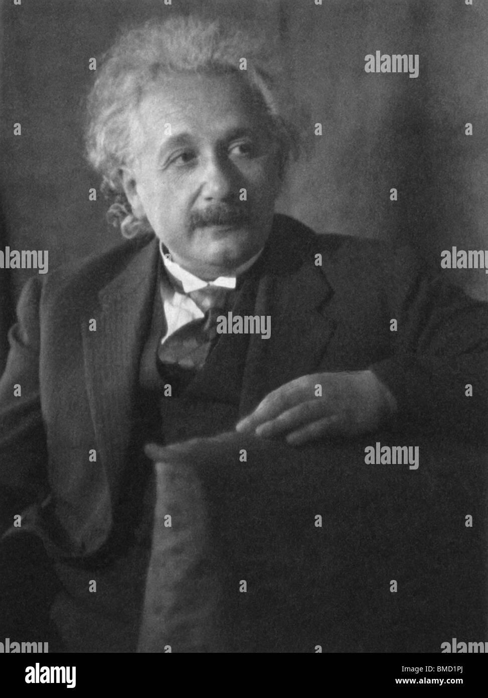 Vintage portrait photo c1931 of theoretical physicist Albert Einstein (1879 - 1955). - Stock Image