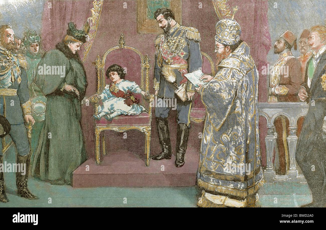 Boris III (,1894-1943). King of Bulgaria (1919-1943). - Stock Image