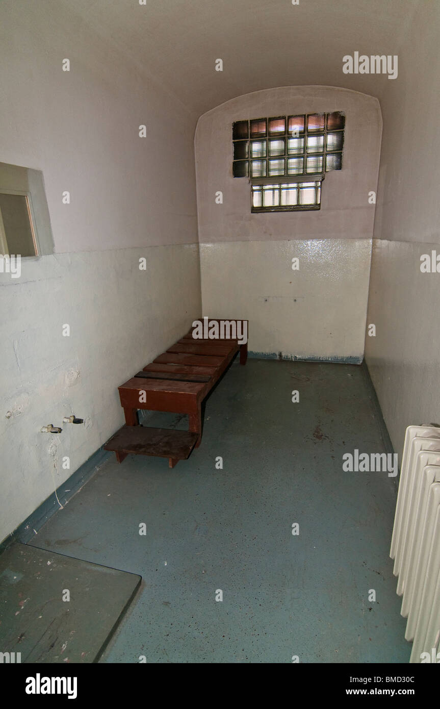 Cell, Former prison of the state security service of the GDR, Potsdam, Brandenburg - Stock Image