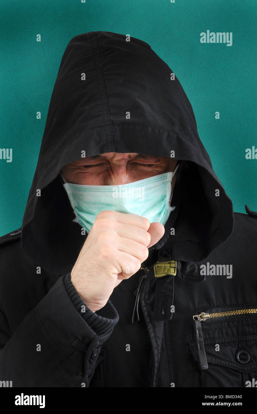 A man with a medical mask - Stock Image