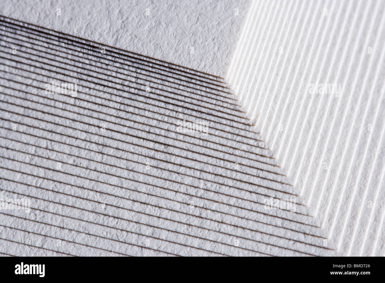 Stack of paper, close up - Stock Image