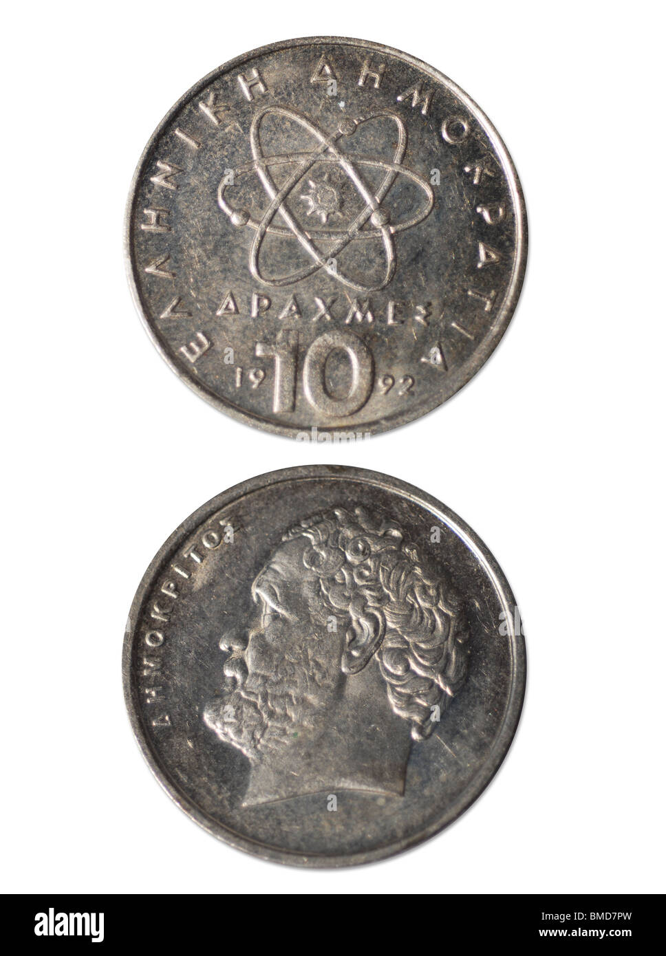 10 Drachmen old Greece Money - Stock Image