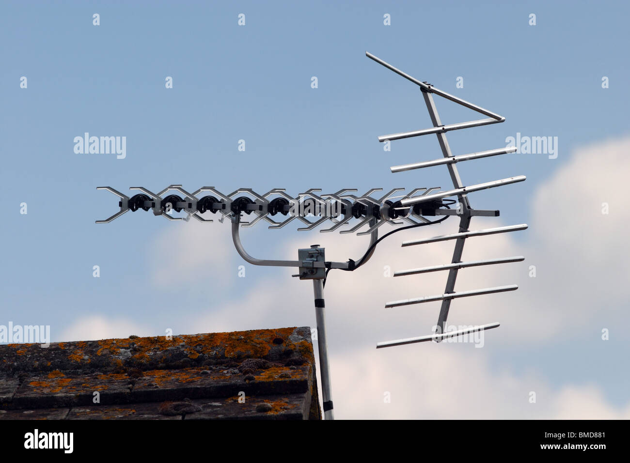 Freeview Digital TV Aerial in UK - Stock Image