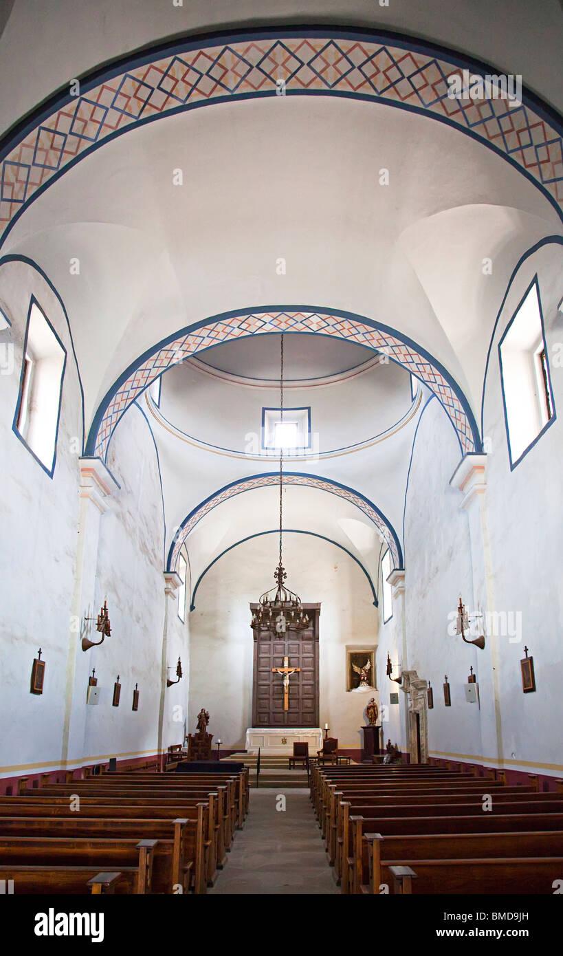 Church Interior At Mission San Jose Y San Miguel De Aguayo