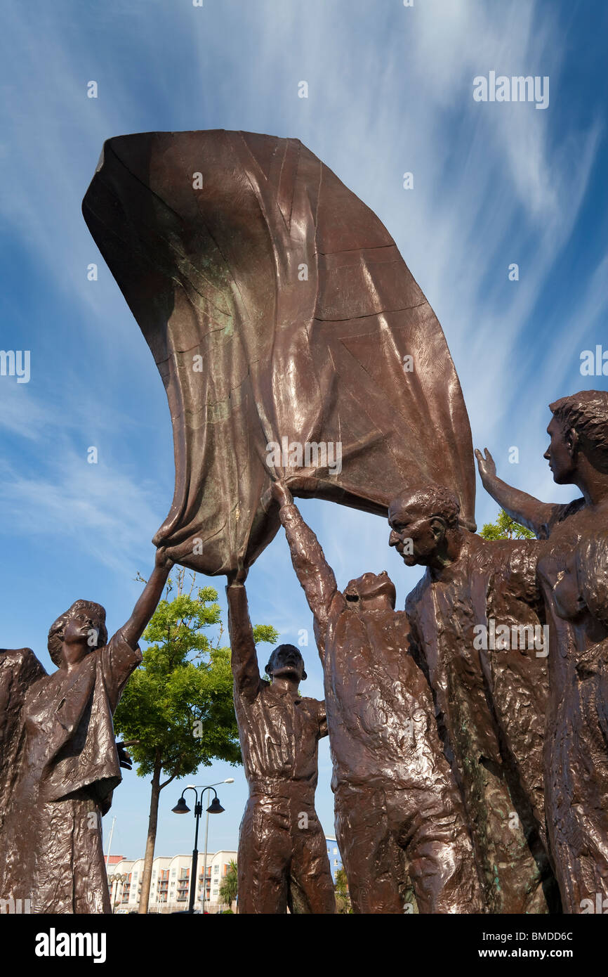 Sculpture in Liberation Square, St Helier, Jersey, Channel Islands - Stock Image