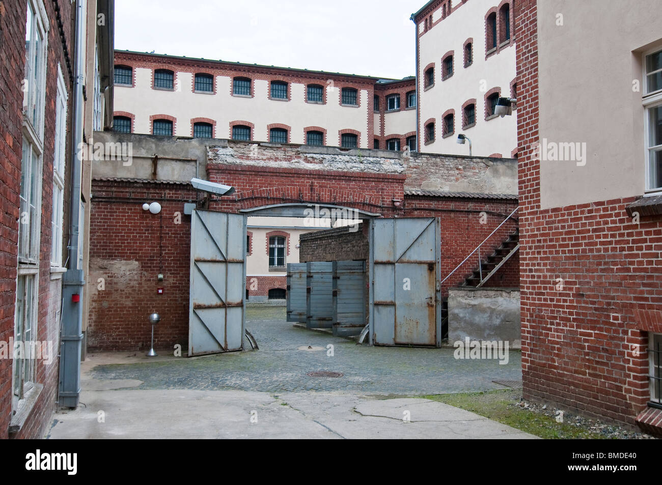 Courtygard of the state security service of the GDR, Potsdam, Brandenburg - Stock Image