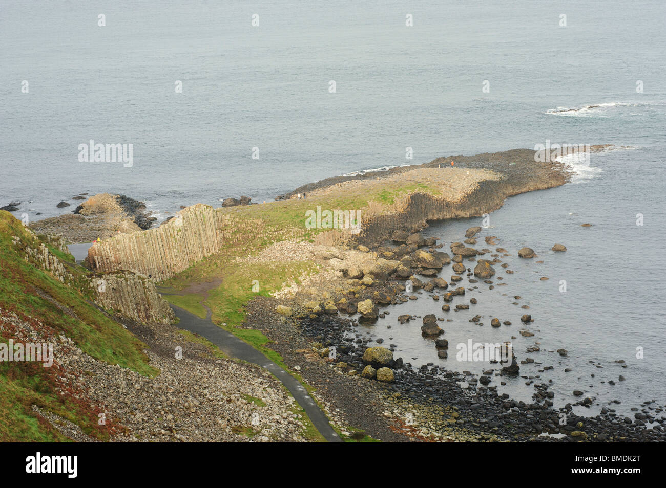 Giant's Causeway, Bushmills, County Antrim, Northern Ireland - Stock Image