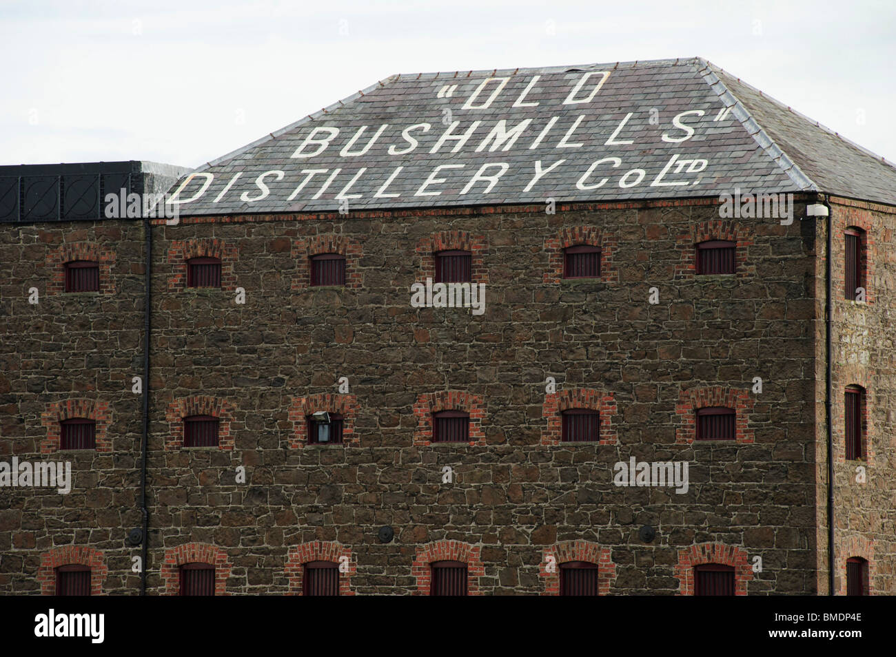 Old Bushmills Distillery, Bushmills, County Antrim, Northern Ireland, UK - Stock Image