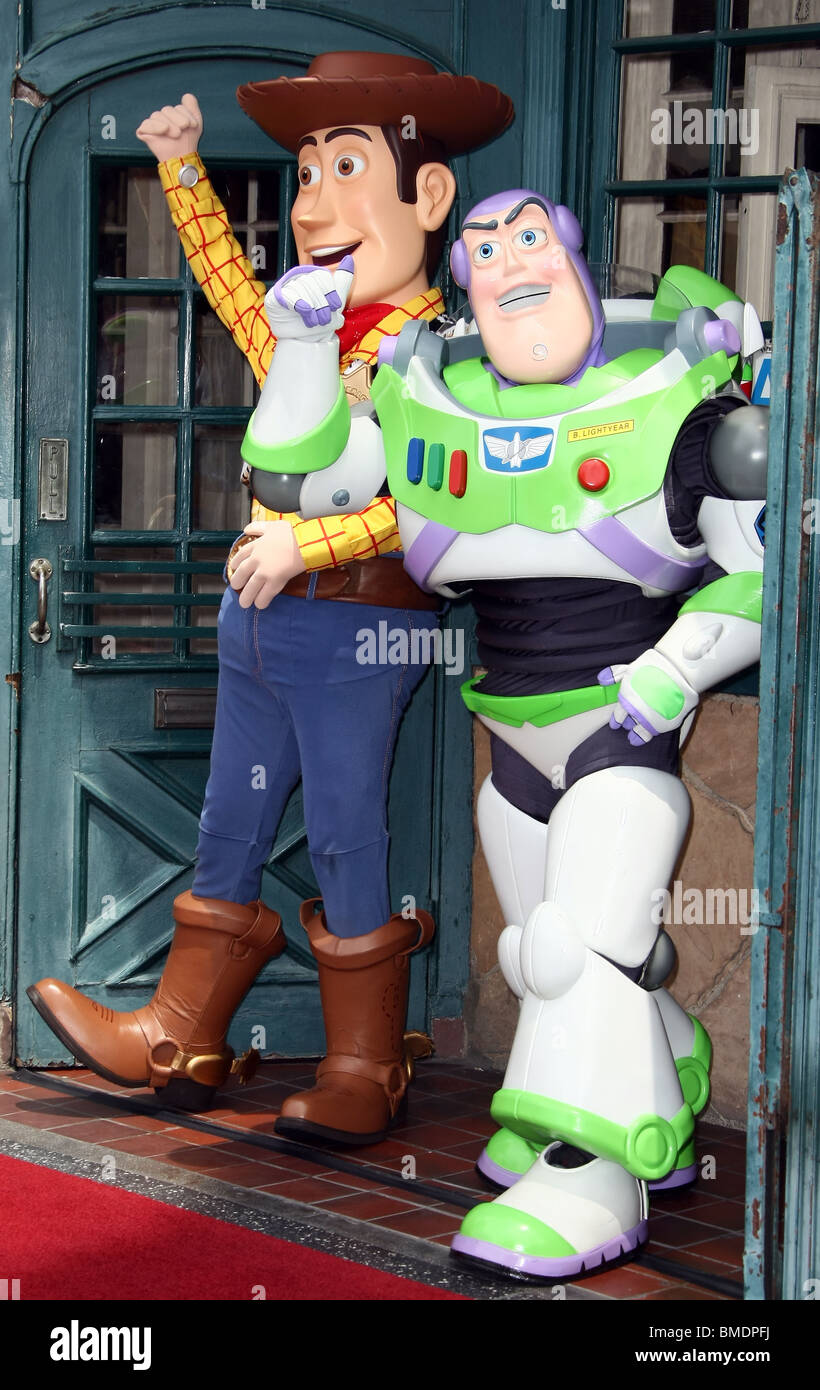 WOODY BUZZ LIGHTYEAR RANDY NEWMAN HONORED WITH A STAR ON THE HOLLYWOOD WALK OF FAME HOLLYWOOD LOS ANGELES CA 02 - Stock Image