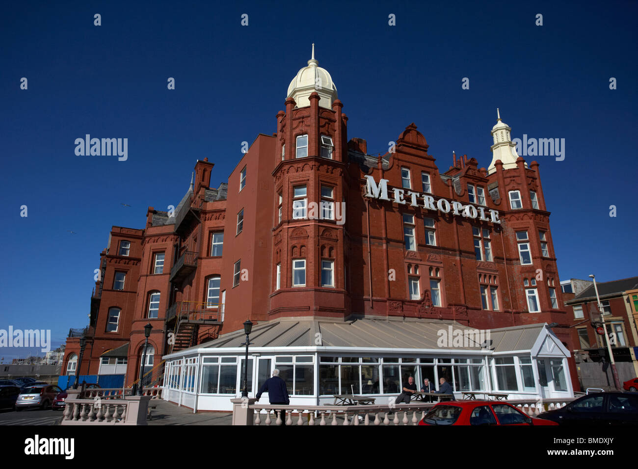 the grand metropole hotel Blackpool seafront lancashire england uk - Stock Image
