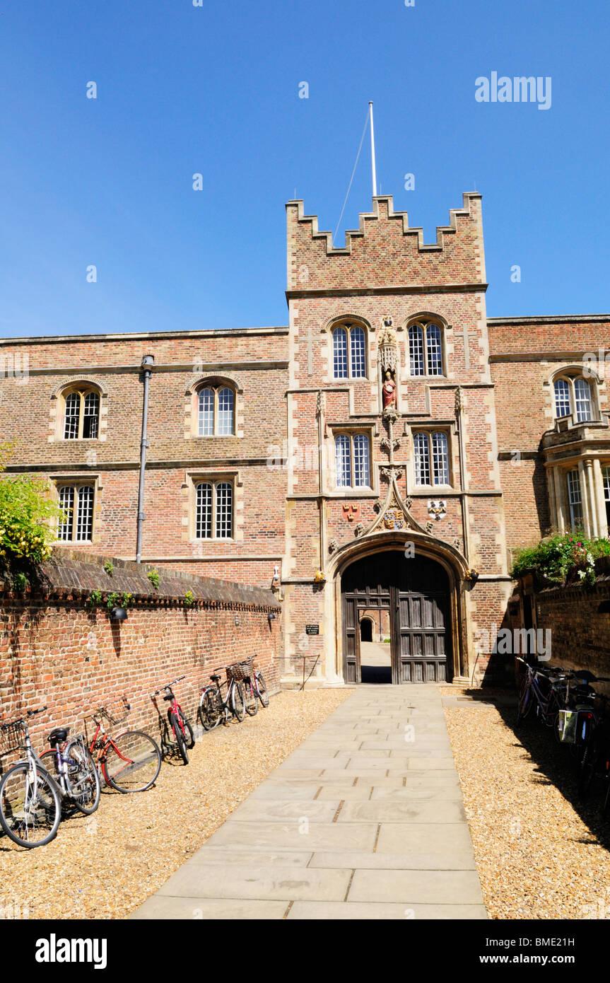 Jesus College Gatehouse, Cambridge, England, UK Stock Photo