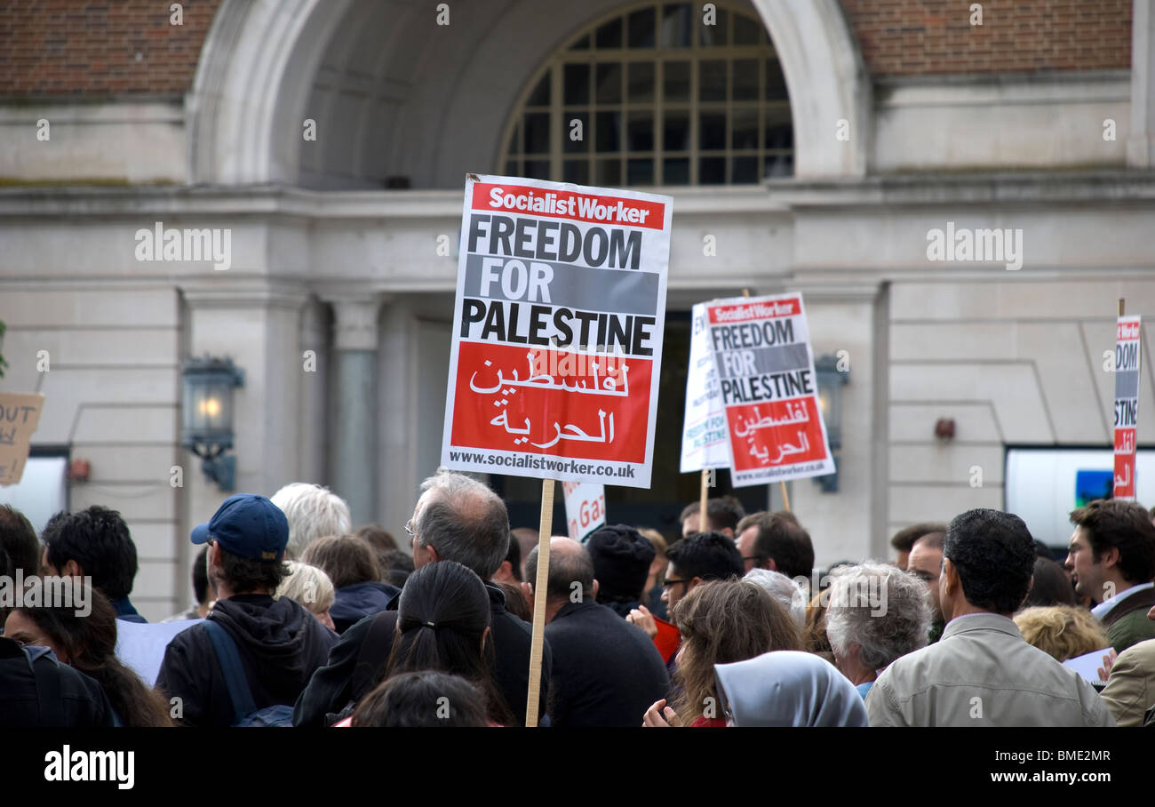 freedom for palestine rally - Stock Image