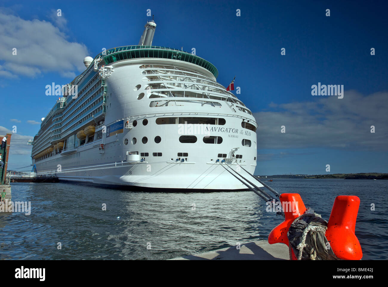 The Royal Caribbean cruise liner the Navigator of the Seas - Stock Image