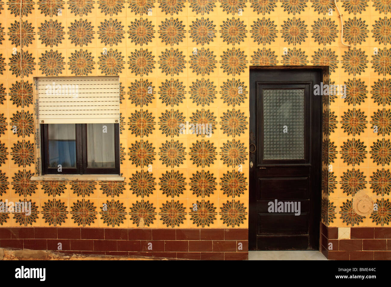 Portugal Selima Tile Fronted House Stock Photo