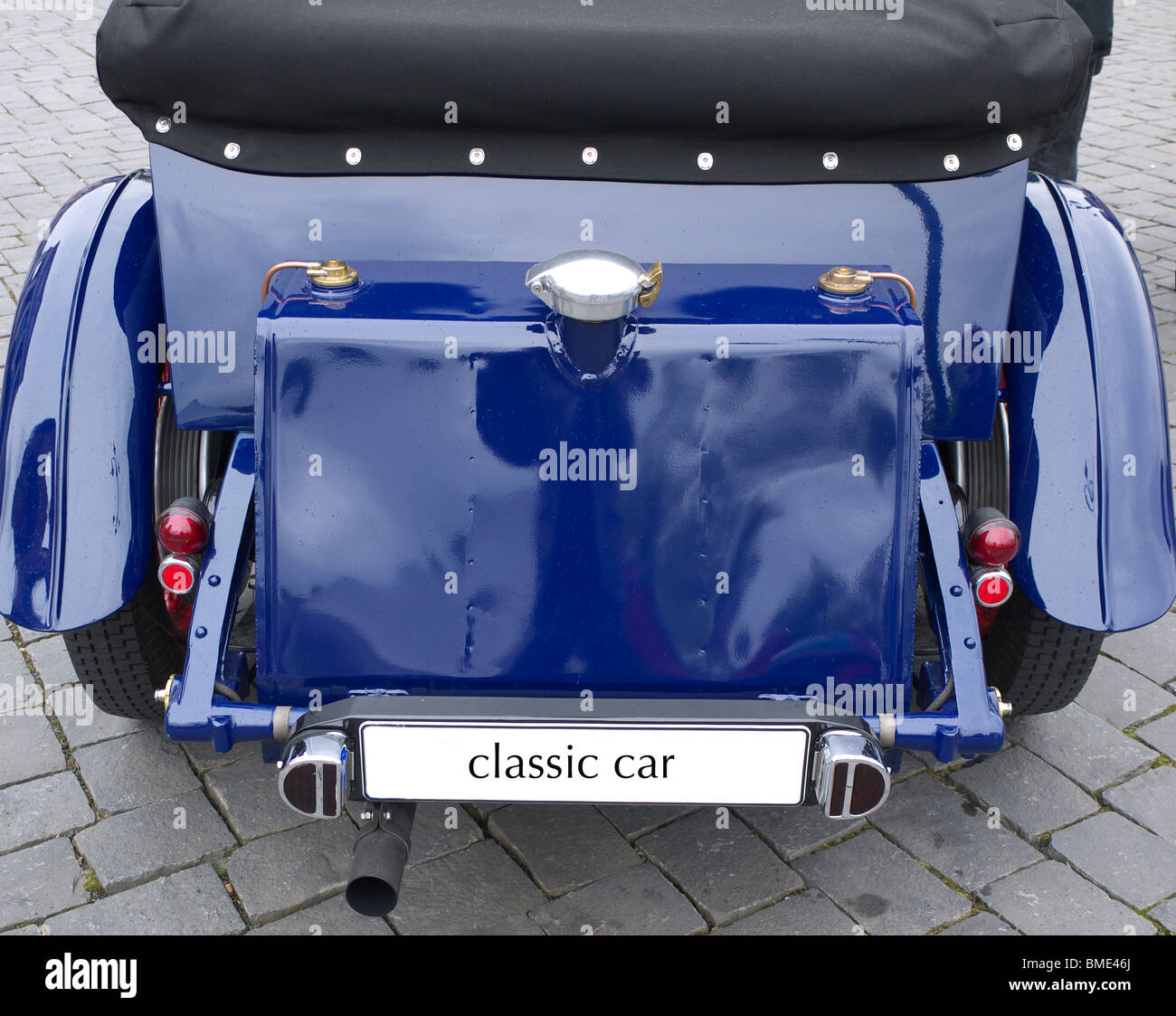 Rear of a classic car - Stock Image