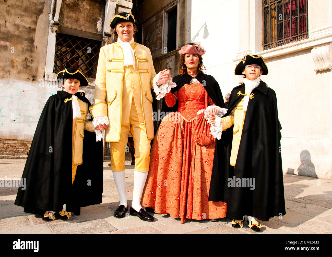 Venice Carnival, Italy Costumed participants - Stock Image