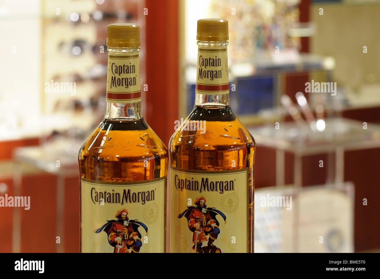 Bottles of Rum - Stock Image
