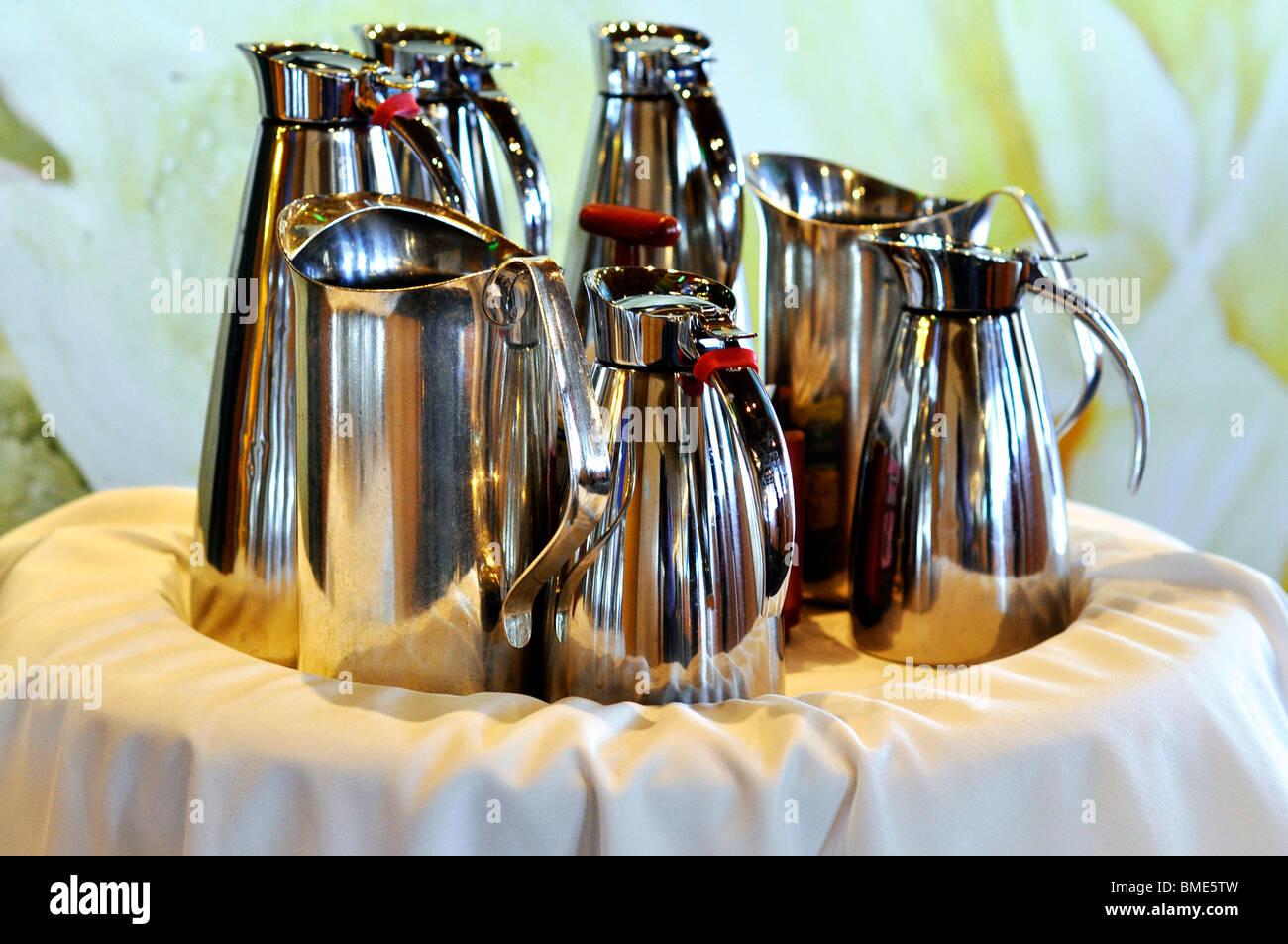 Tea and Coffee Pots - Stock Image