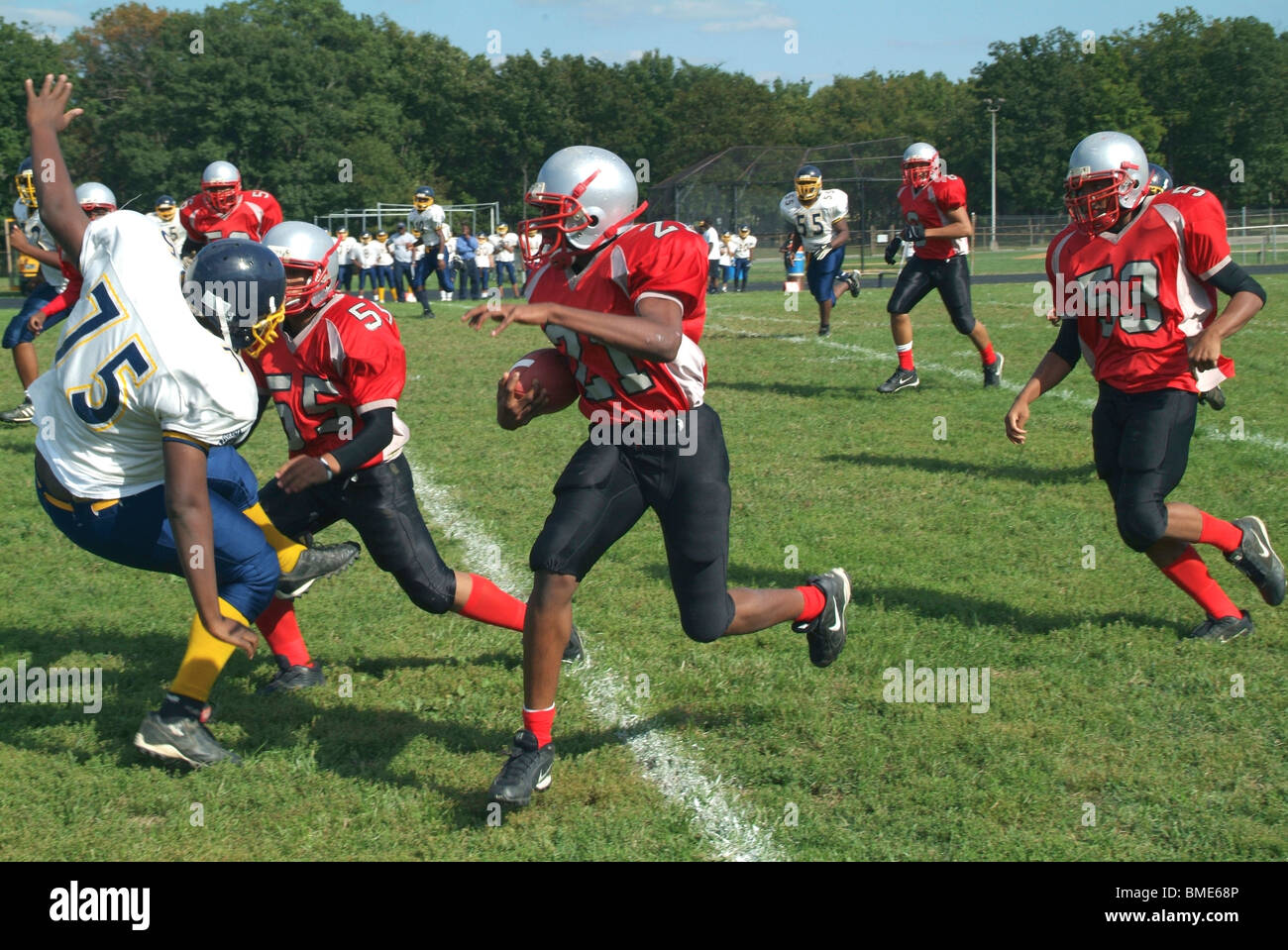 high school football game, Suitland, Md - Stock Image