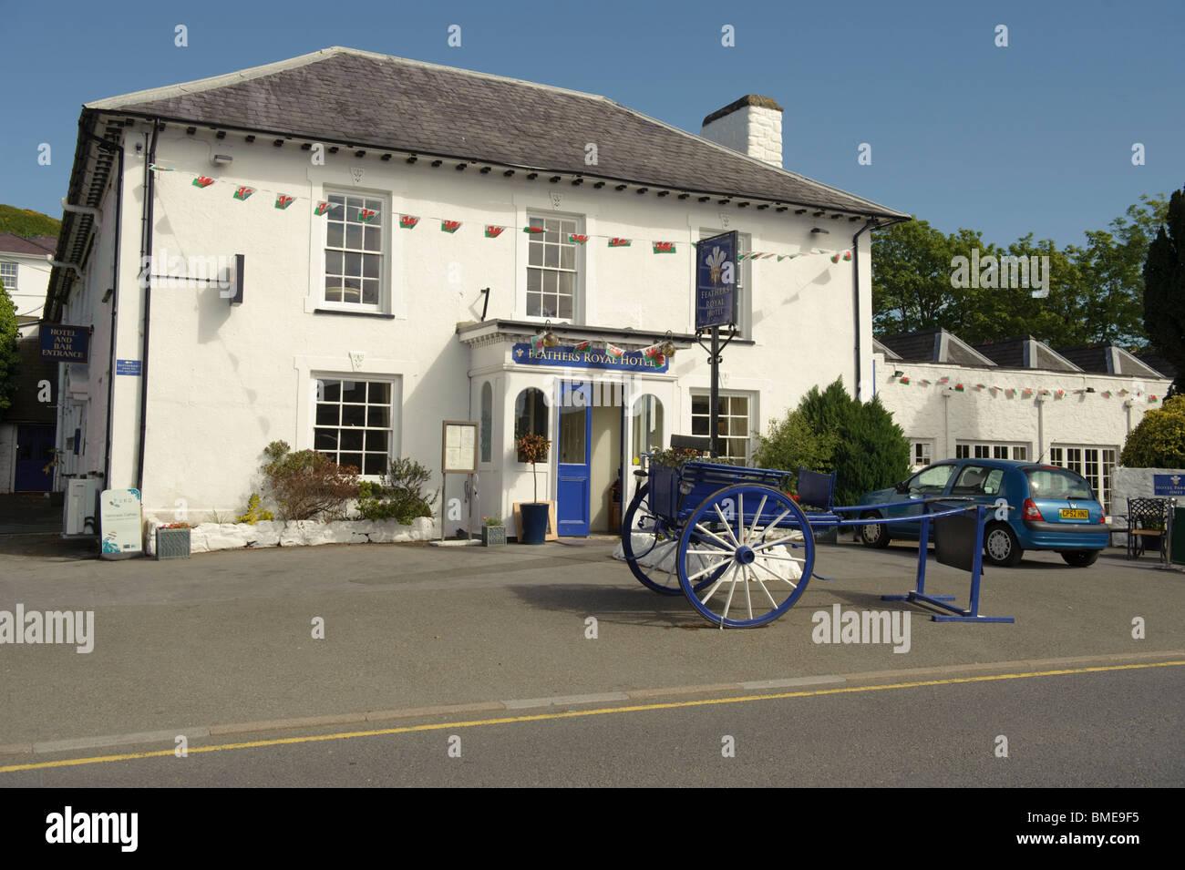 The Feathers Royal Hotel, Aberaeron, Ceredigion, West Wales UK - Stock Image