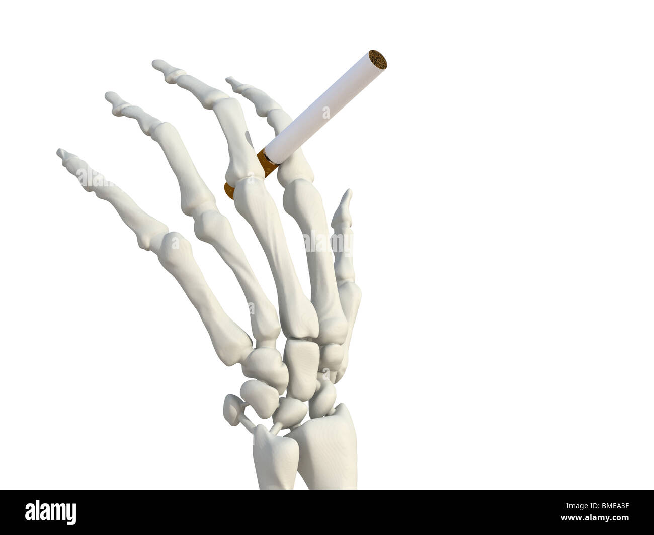 skeleton hand with cigarette Stock Photo: 29818755 - Alamy