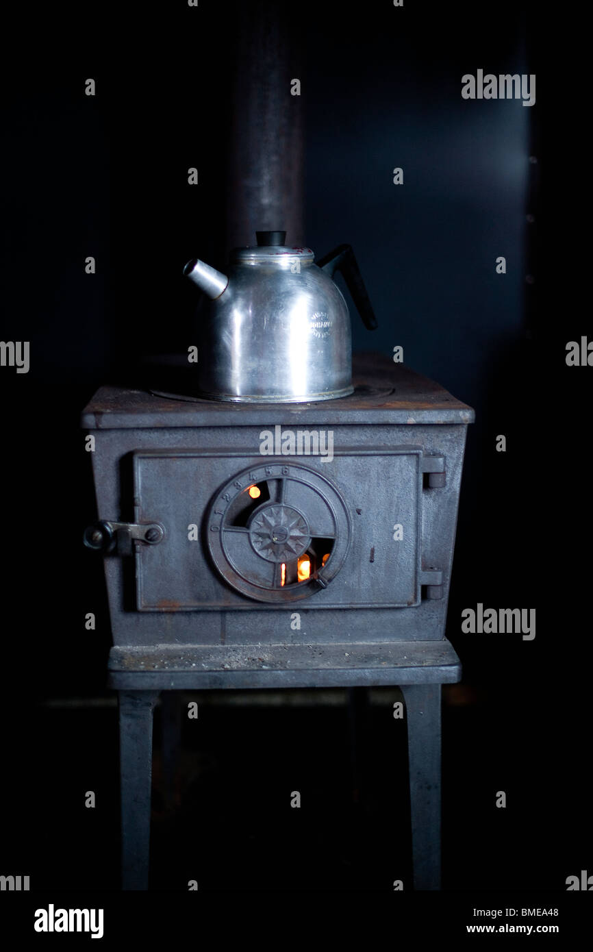 An old stove, Sweden. Stock Photo