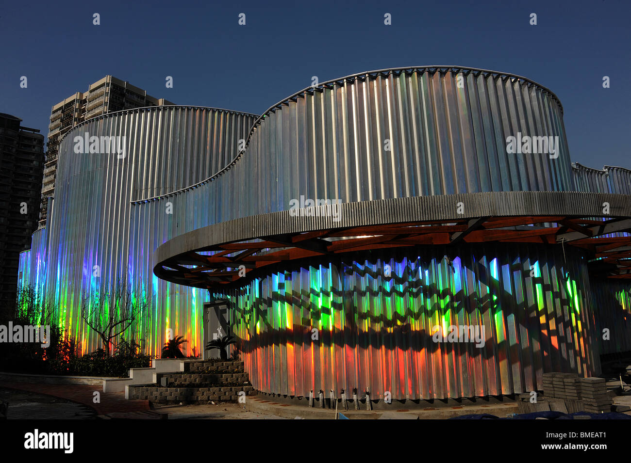 Private Enterprises Joint Pavilion in Zone E, 2010 Shanghai Expo Park, Puxi, Shanghai, China - Stock Image