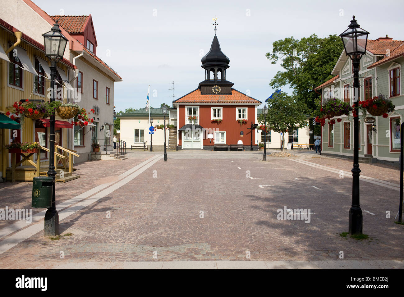 View of town hall - Stock Image