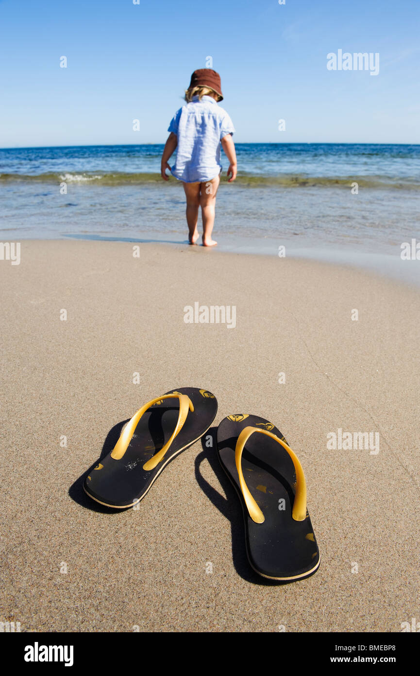 cef4ad9c972417 Flip Flops Feet Child Stock Photos   Flip Flops Feet Child Stock ...
