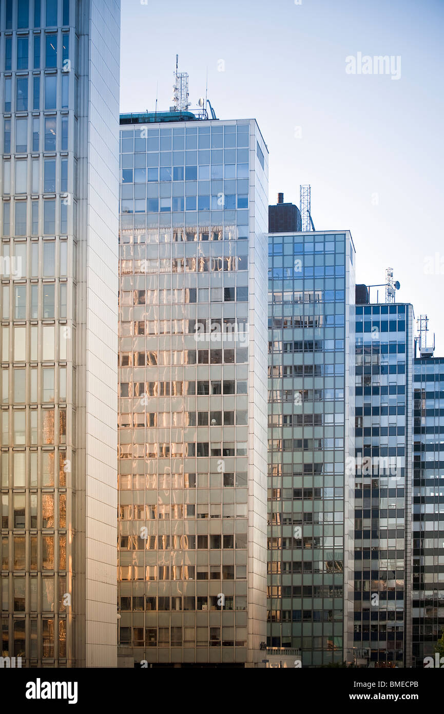 View of modern buildings in row - Stock Image