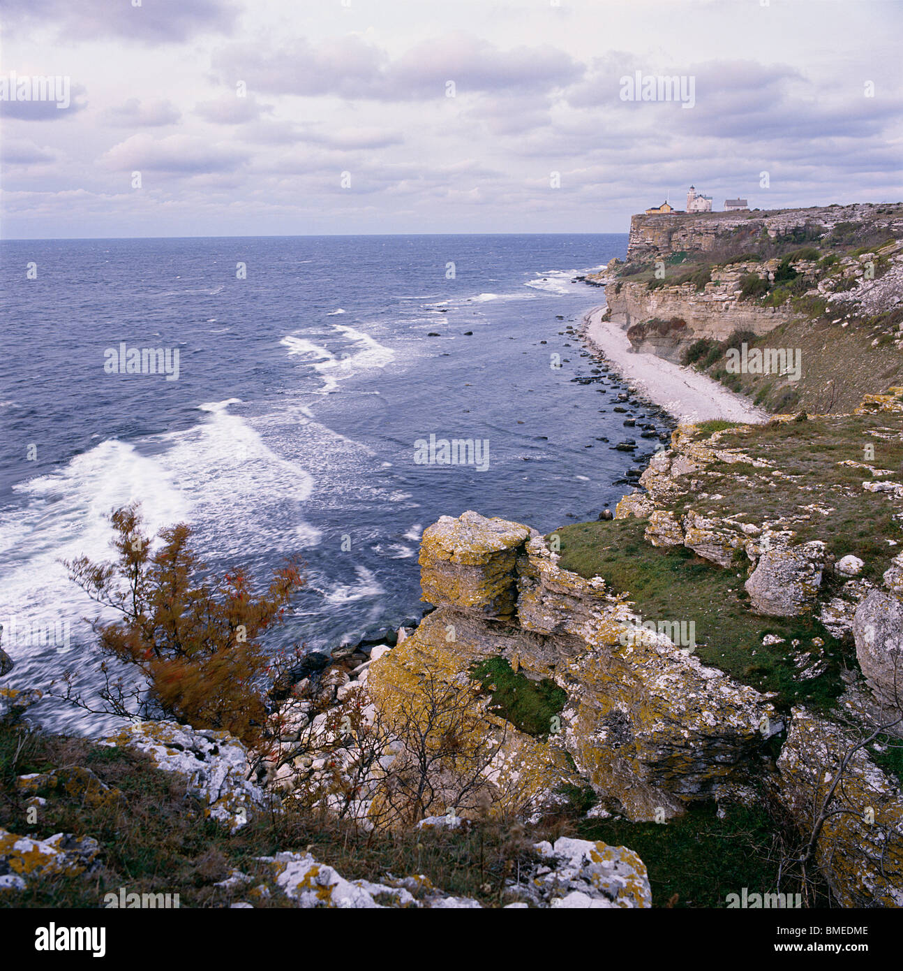 View of sea cliff - Stock Image
