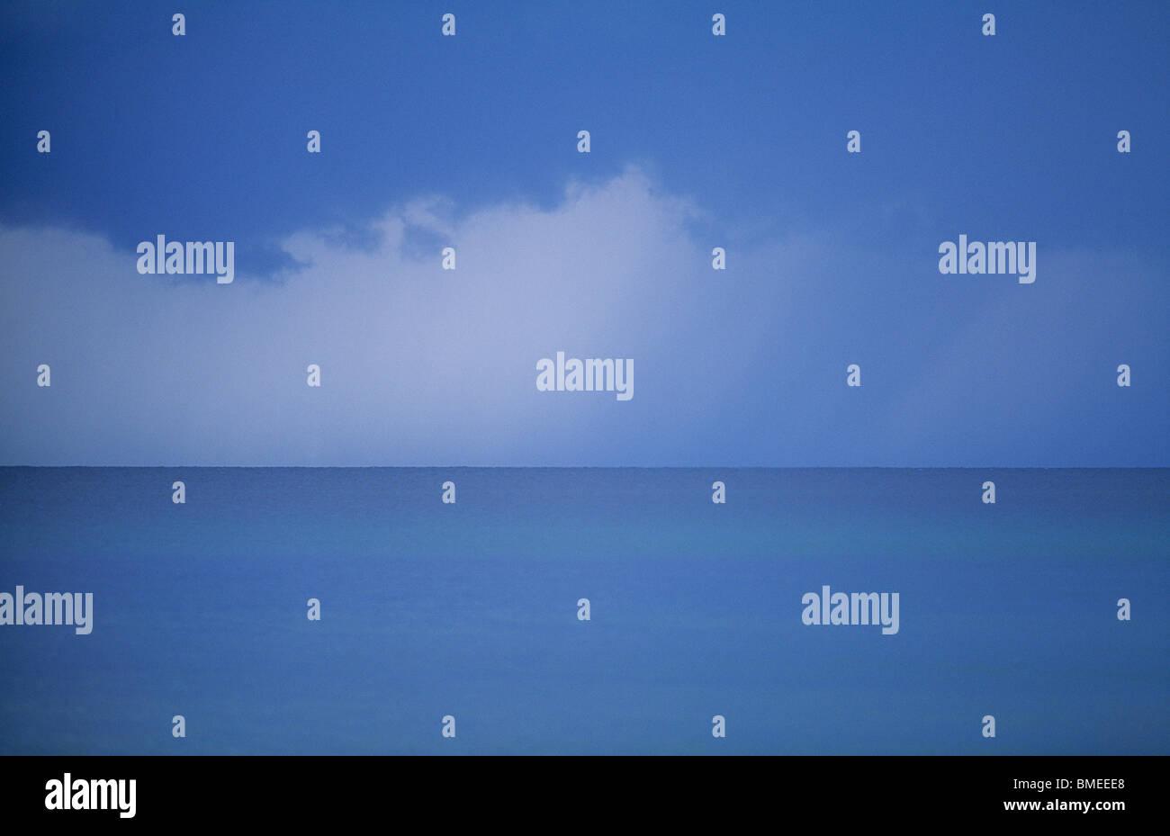 View of calm sea - Stock Image