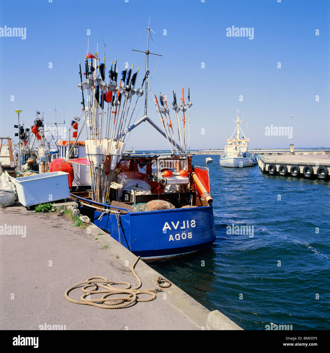 View of fishing trawler - Stock Image