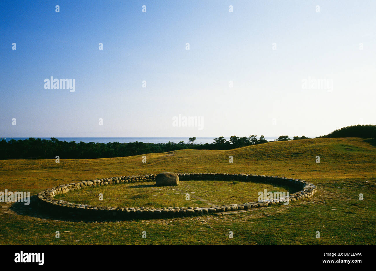 View of farm - Stock Image