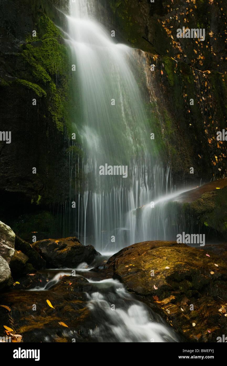 North America, USA, North Carolina, View of waterfall - Stock Image