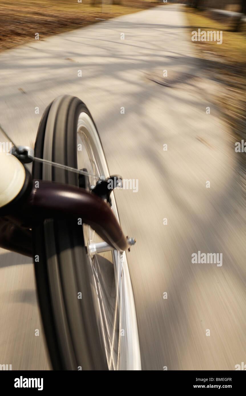 Scandinavia, Sweden, Roslagen, View of bicycle on road - Stock Image