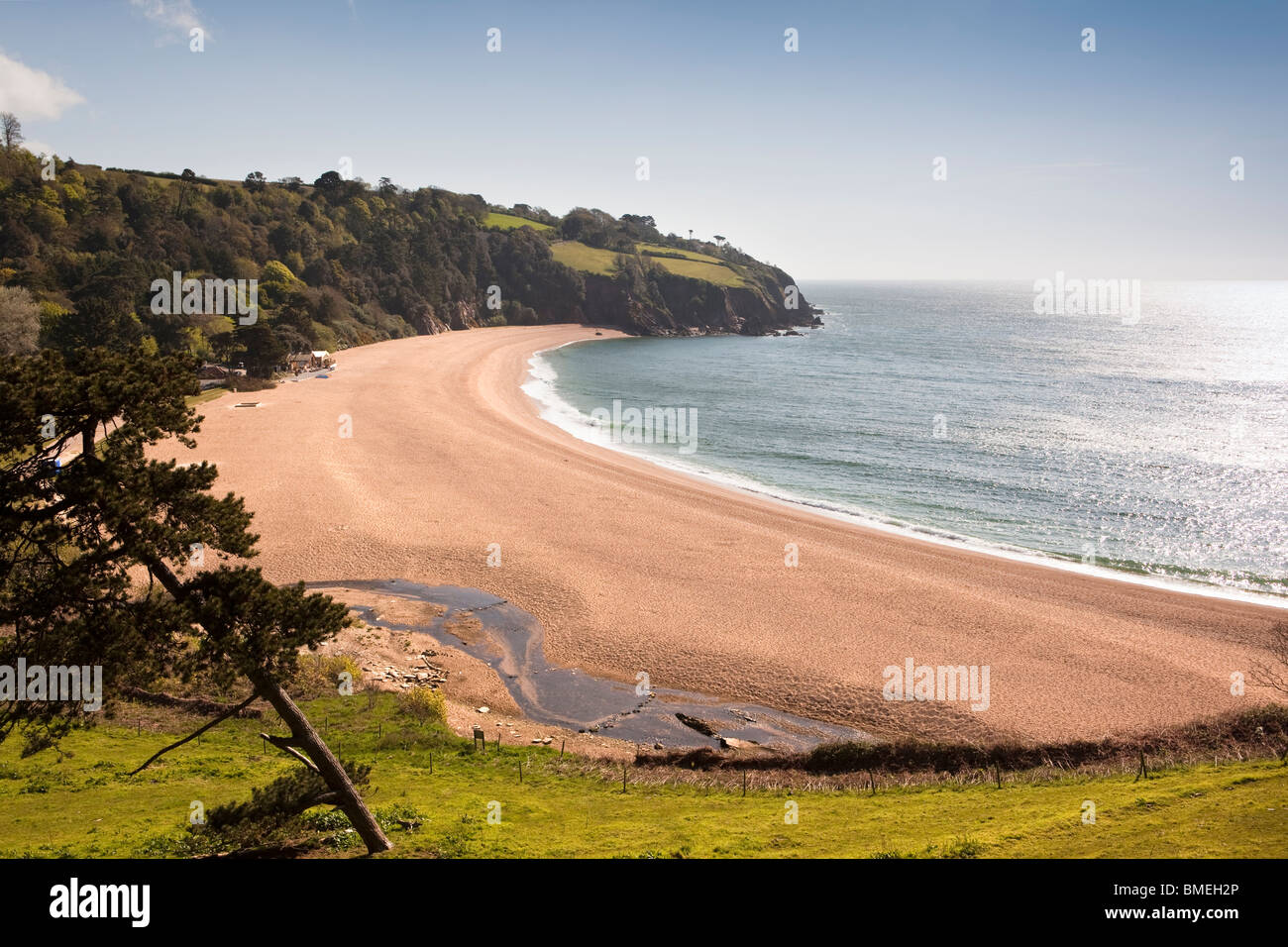UK, England, Devon, south coast, Blackpool sands private beach near Slapton Sands - Stock Image