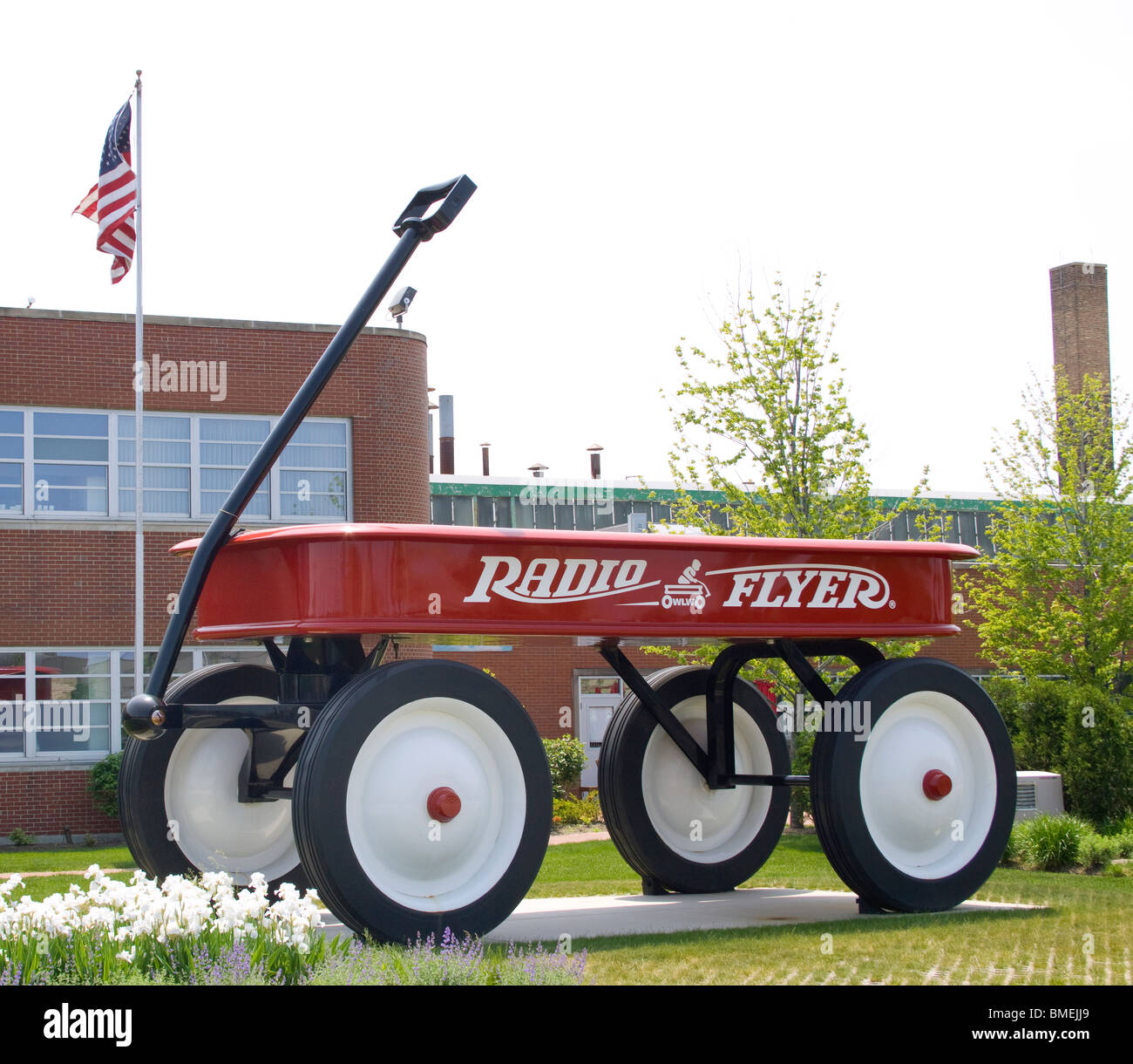 Giant Wagon at the Radio Flyer headquarters in Elmwood Park Illinois Stock Photo