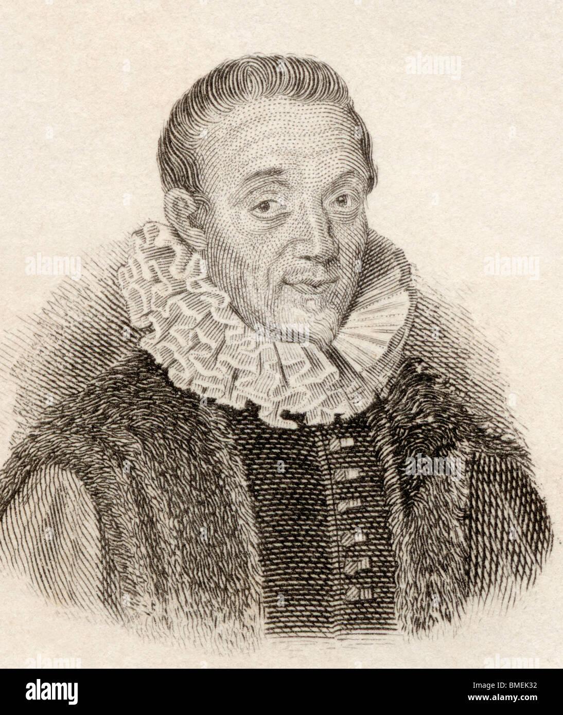 Jacques Auguste de Thou aka Thuanus, 1553 to 1617. French historian. - Stock Image