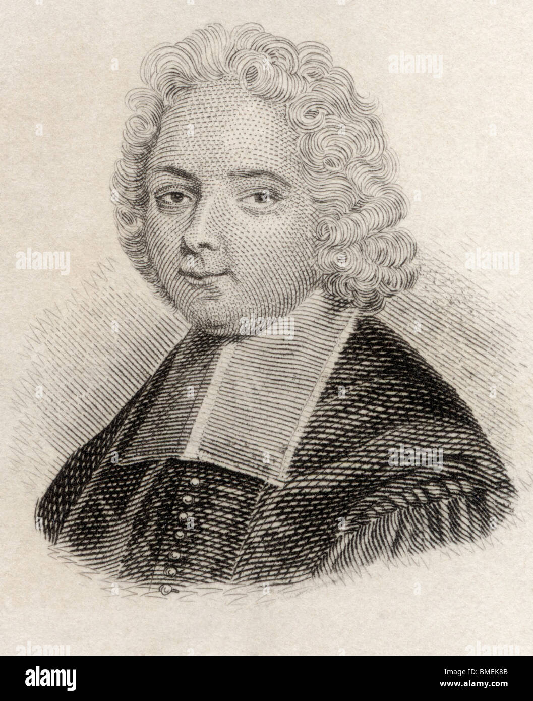 Louis Ellies du Pin, or Dupin,1657 to 1719. French ecclesiastical historian. - Stock Image