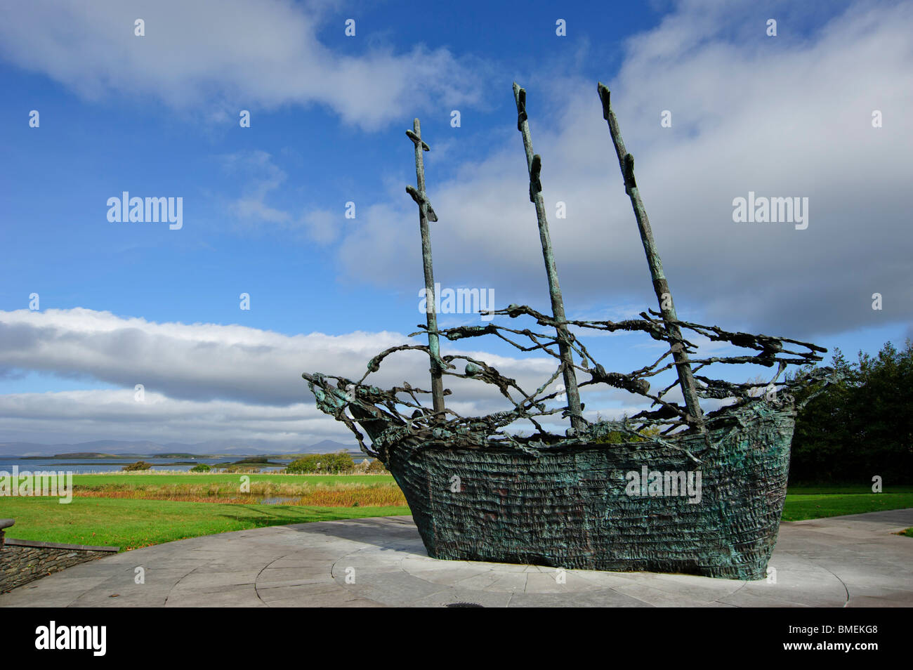 National Famine Memorial, Murrisk, County Mayo, Province of Connacht, Ireland Stock Photo