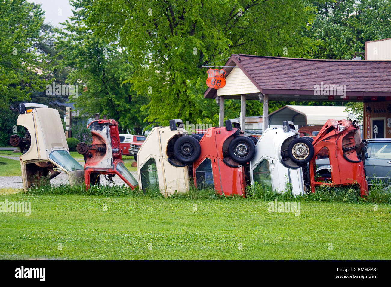 Henry's Ra66it Ranch on old Route 66 in Staunton Illinois - Stock Image