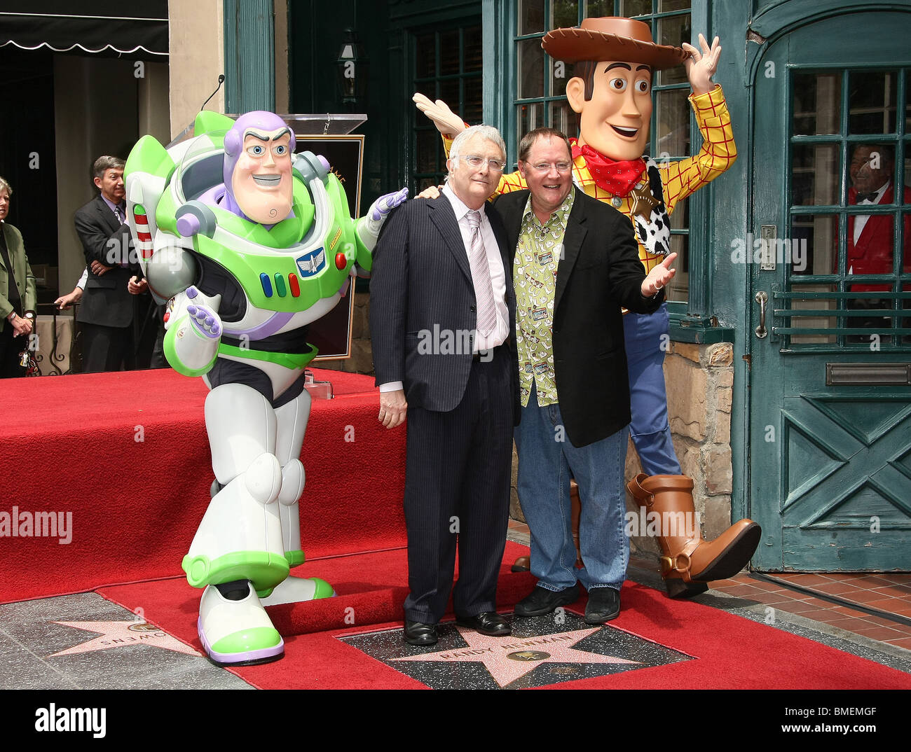 BUZZ LIGHTYEAR RANDY NEWMAN JOHN LASSETER WOODY RANDY NEWMAN HONORED WITH A STAR ON THE HOLLYWOOD WALK OF FAME HOLLYWOOD - Stock Image