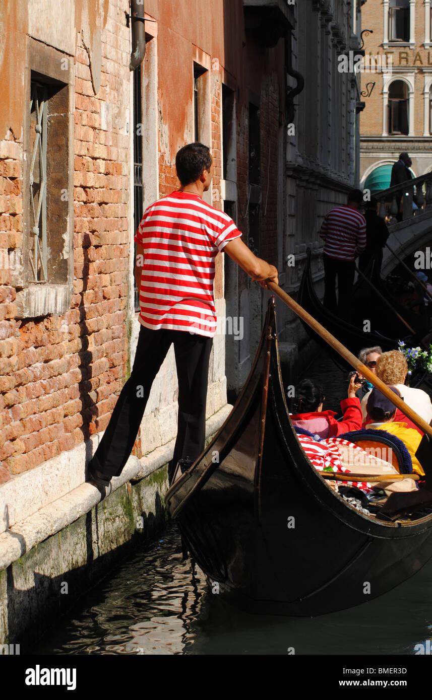 Gondolier, Venice, Italy - Stock Image
