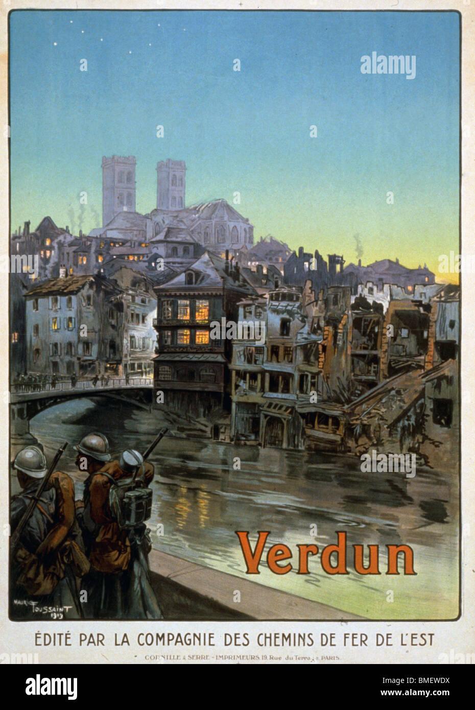 Verdun - French World War I poster - Stock Image