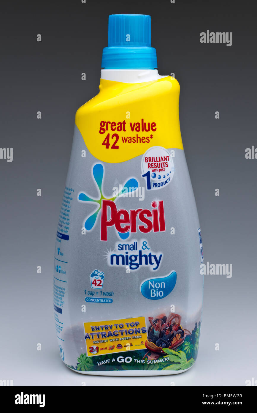 1470 ml bottle of Persil small and mighty concentrated liquid washing detergent - Stock Image