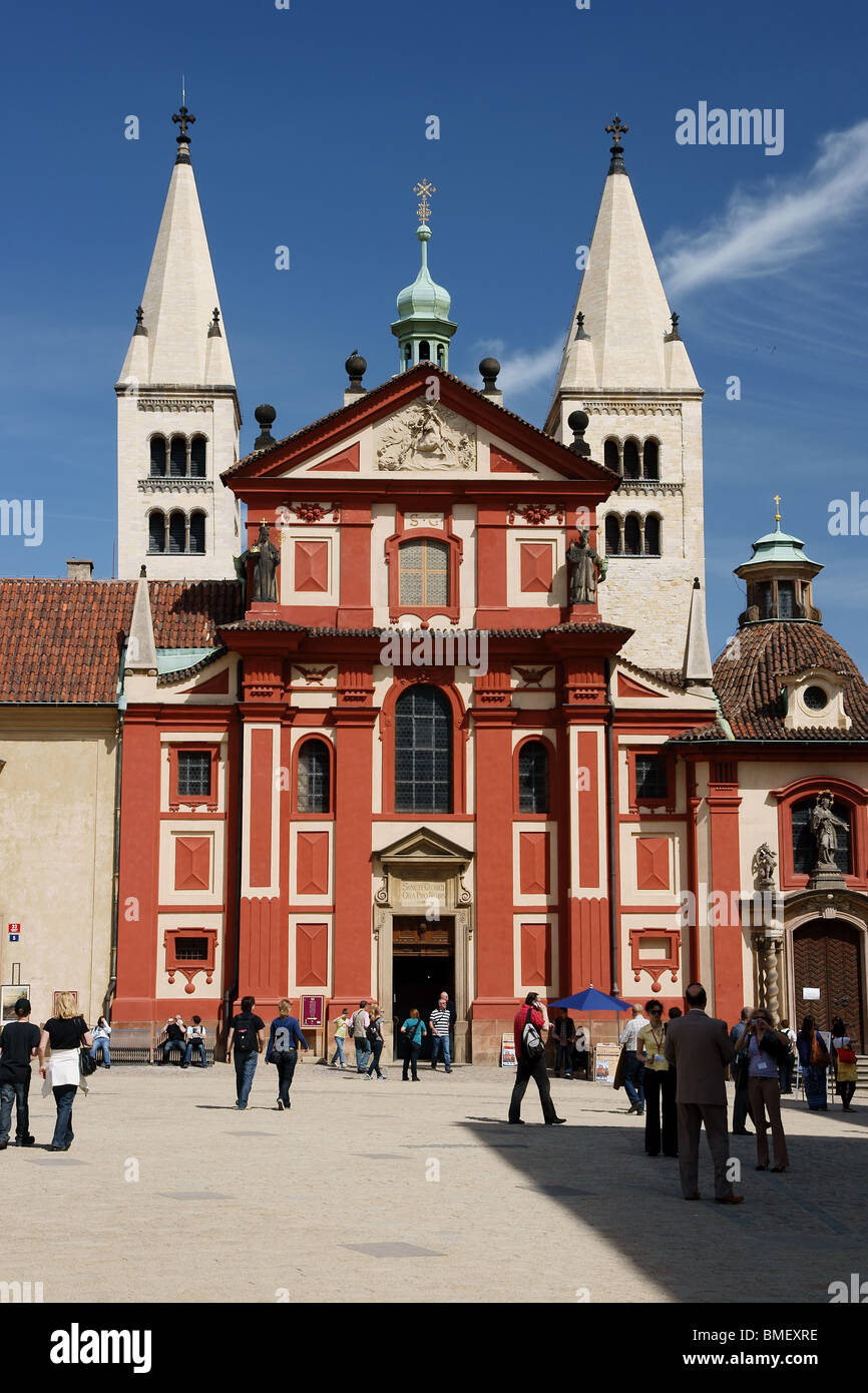 St. George's Basilica, Prague Castle St. George's Basilica was founded by Prince Vratislav (915-921). Stock Photo
