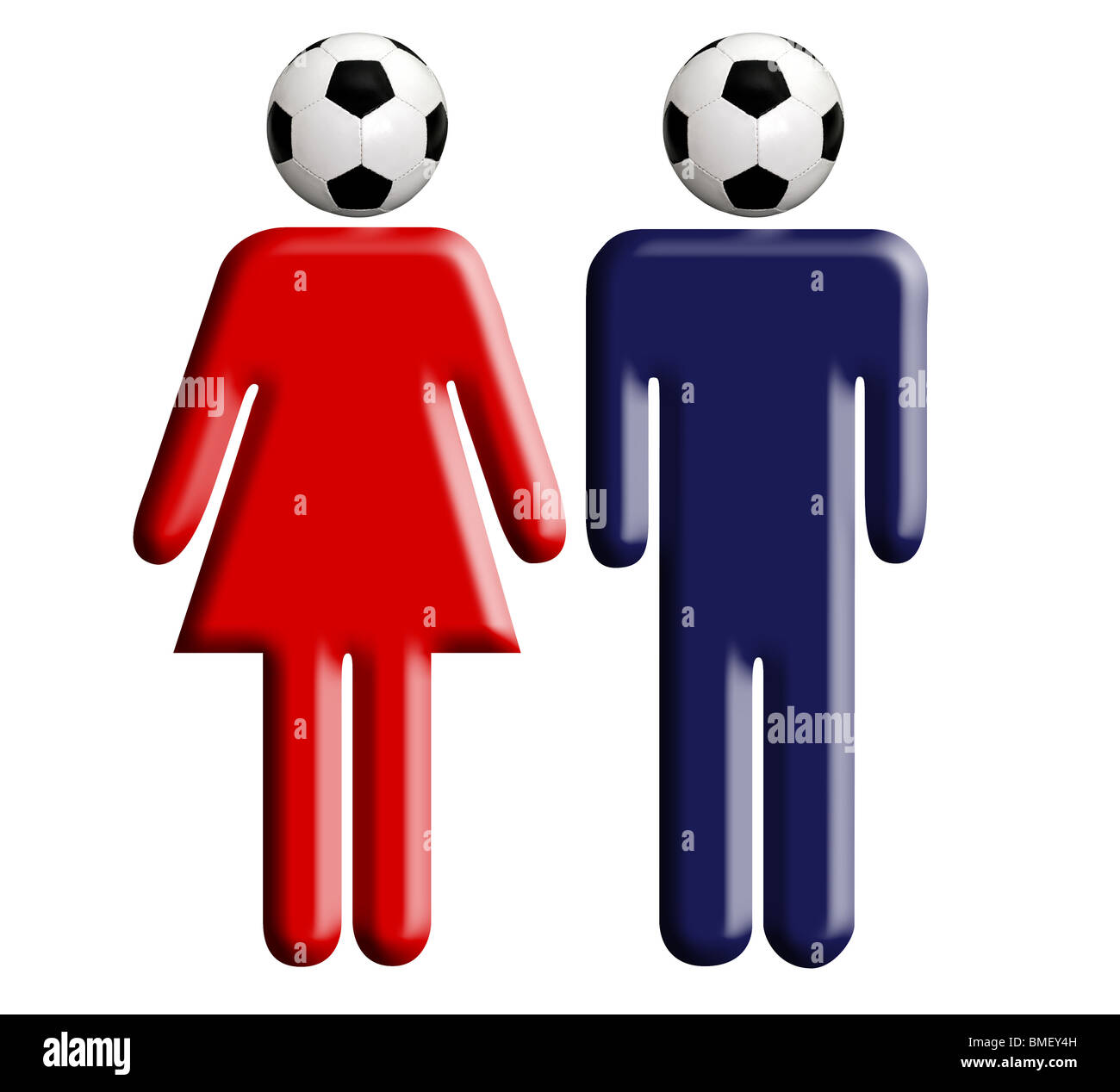 real soccer fans woman man - Stock Image